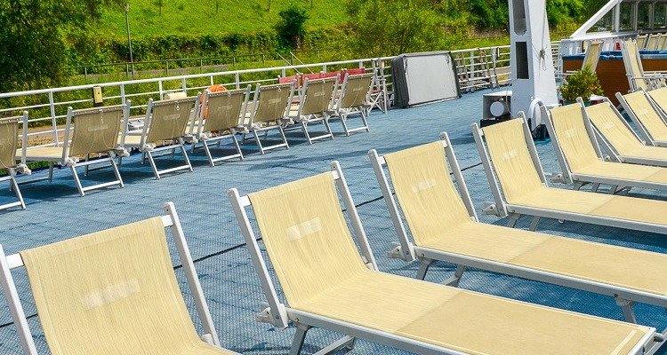 MS Normandie, deck chairs at sun deck