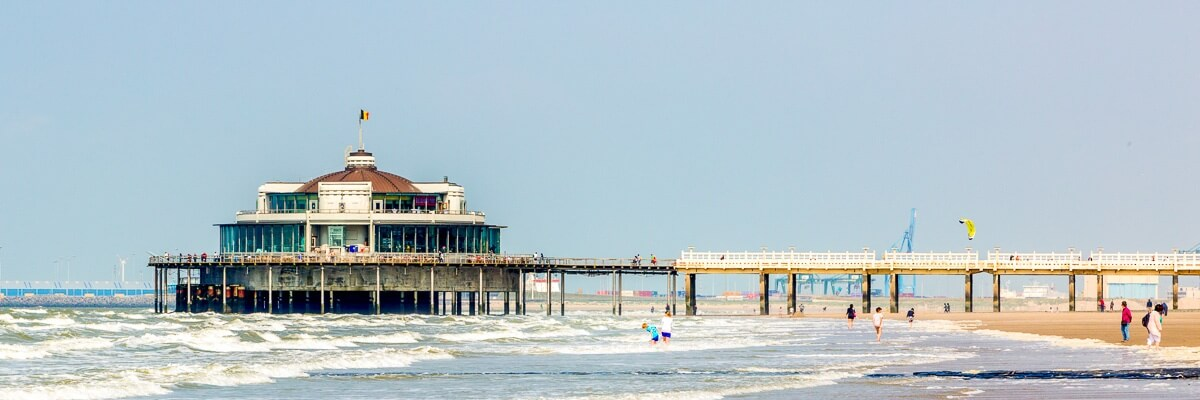 Blankenberge by the Coast of the North Sea